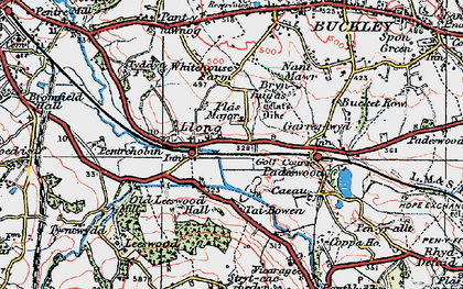 Old map of Leeswood Hall in 1924