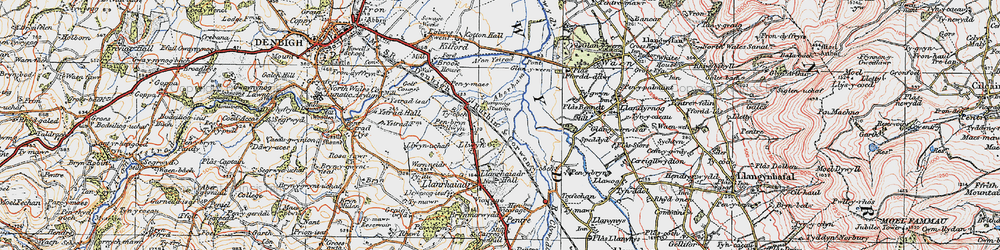 Old map of Aberham in 1922