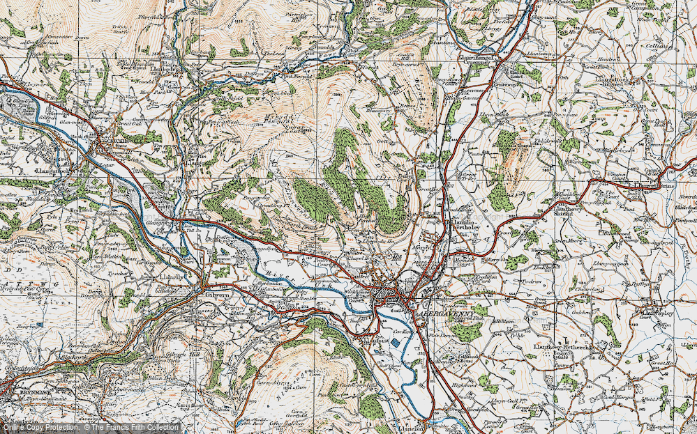 Old Map of Historic Map covering Allt in 1919