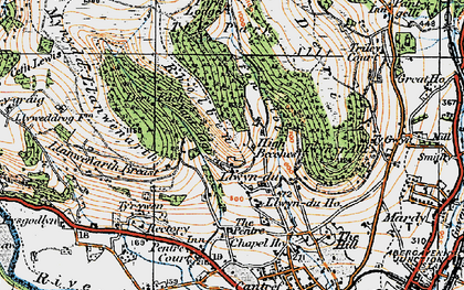 Old map of Allt in 1919