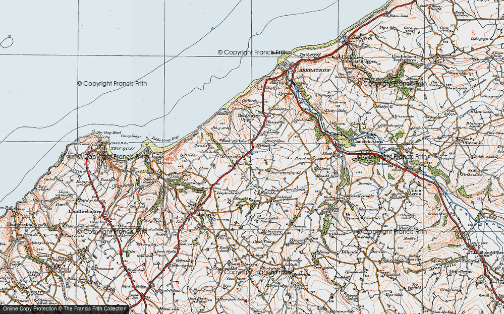 Old Map of Historic Map covering Afon Drywi in 1923