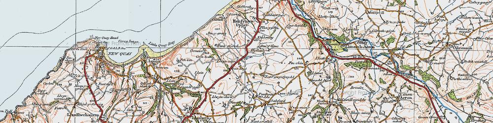 Old map of Afon Drywi in 1923