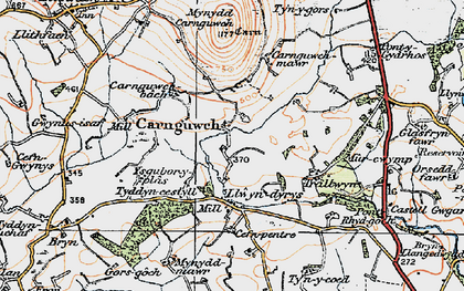 Old map of Ysgubor Plas in 1922
