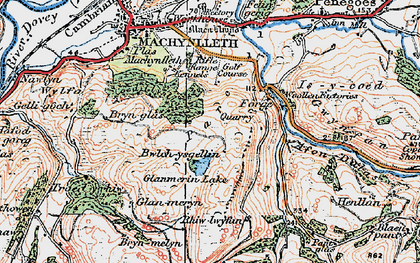 Old map of Llyn Glanmerin in 1921