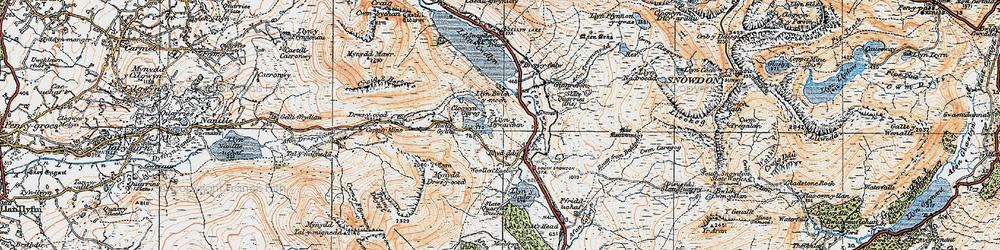 Old map of Afon Treweunydd in 1922
