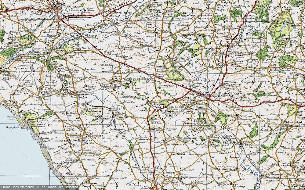 Old Map of Llysworney, 1922 in 1922