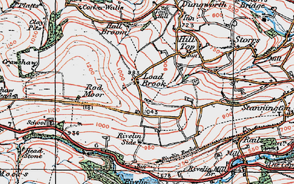 Old map of Ash Cabin Flat in 1923