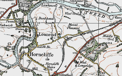 Old map of Lilliestead in 1926