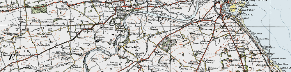 Old map of West Ord in 1926