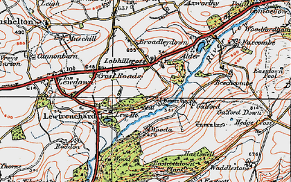 Old map of Lew Mill in 1919