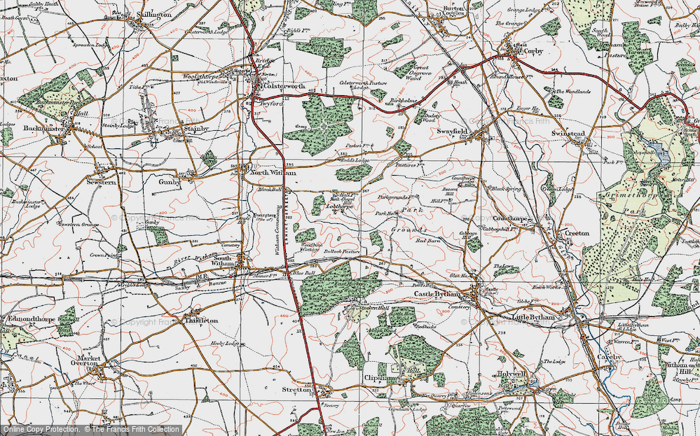 Old Map of Historic Map covering Todd's Lodge in 1922
