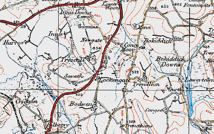 Old map of Lockengate in 1919