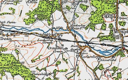 Old map of Lockerley in 1919