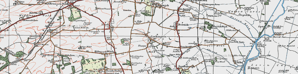 Old map of Windmill Whin in 1924