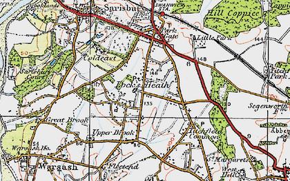 Old map of Locks Heath in 1919