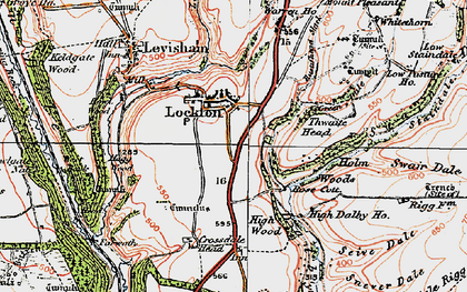 Old map of Adderstone Rigg in 1925