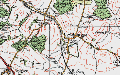 Old map of Withcote Lodge in 1921