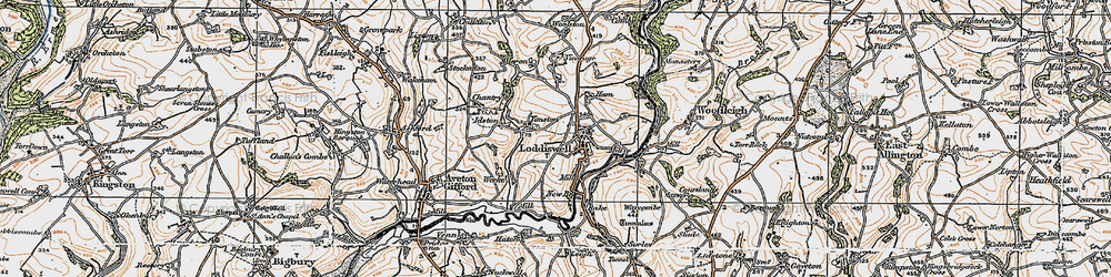 Old map of Alleron in 1919