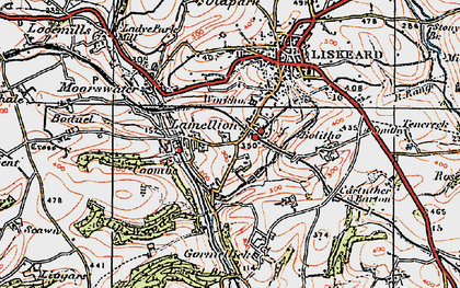 Old map of Lodge Hill in 1919