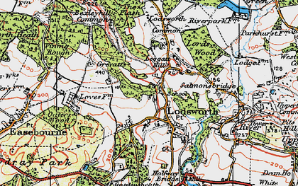 Old map of Lodsworth in 1920