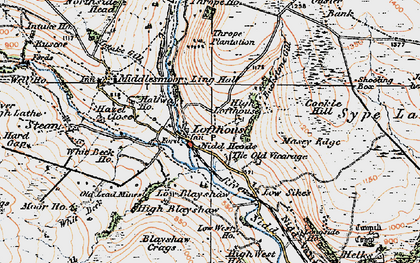 Old map of Lofthouse in 1925