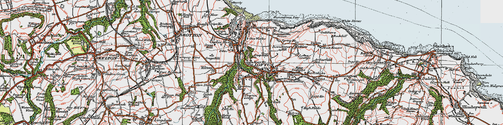 Old map of Loftus in 1925