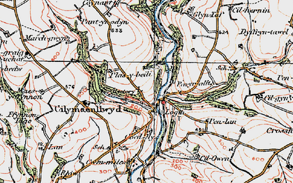 Old map of Bachsylw in 1922