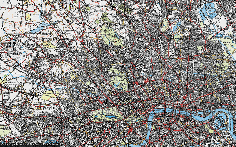 Old Map of London Zoo, 1920 in 1920