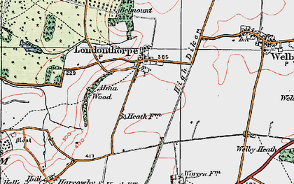 Old map of Alma Wood in 1922