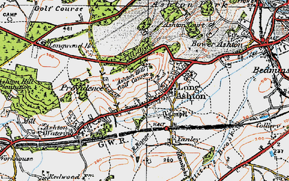 Old map of Ashton Hill in 1919