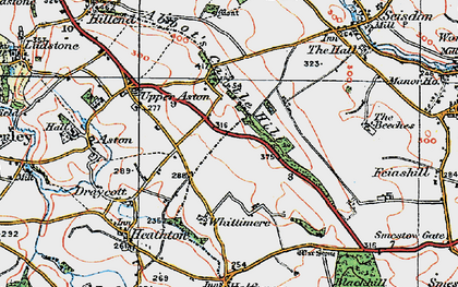 Old map of Abbot's Castle Hill in 1921