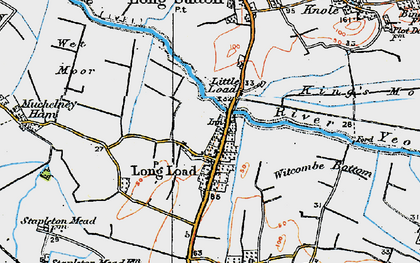 Old map of Witcombe Bottom in 1919