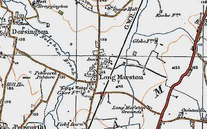 Old map of Willicote Pastures in 1919