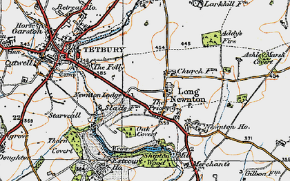 Old map of Addy's Firs in 1919