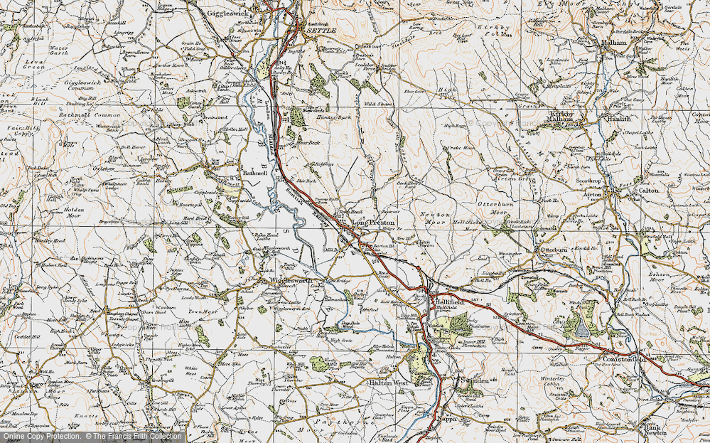 Old Map of Long Preston, 1924 in 1924