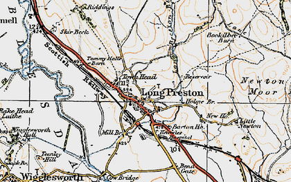 Old map of Long Preston in 1924
