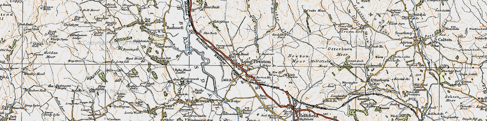 Old map of Wild Share in 1924