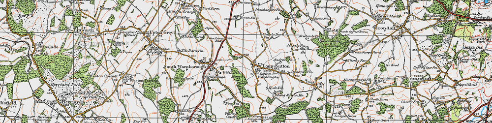 Old map of Long Sutton in 1919