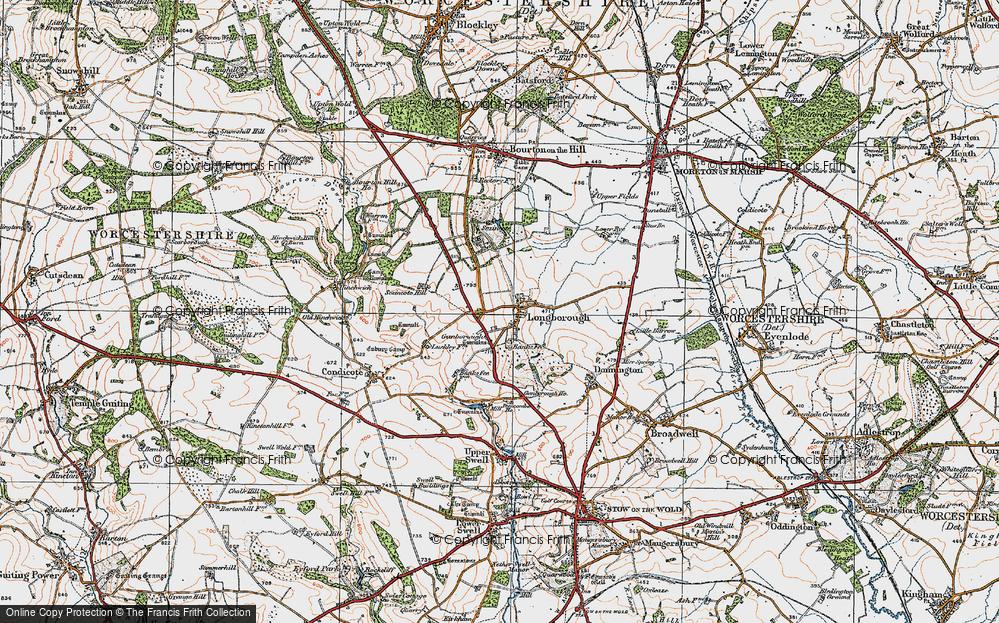 Old Map of Historic Map covering Banks Fee in 1919