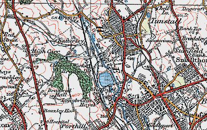 Old map of Westport Lake in 1921