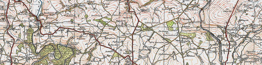 Old map of Willestrew Park in 1919