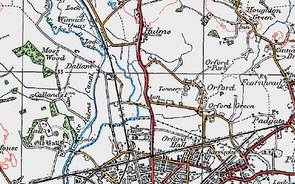 Old map of Longford in 1923