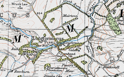 Old map of Whinrig in 1926