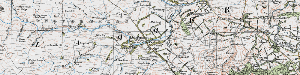 Old map of Whinrig Hill in 1926