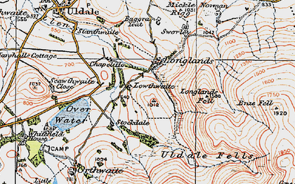 Old map of Baggra Yeat in 1925