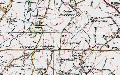 Old map of Longlane in 1921
