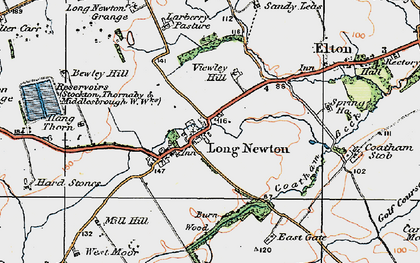 Old map of Larberry Pastures in 1925