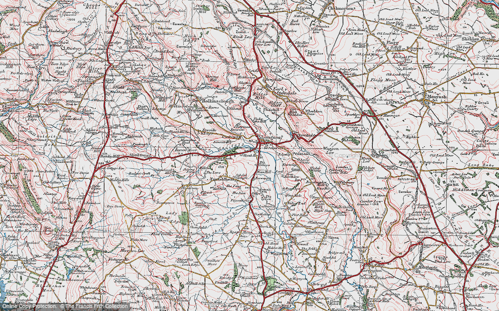 Old Map of Longnor, 1923 in 1923