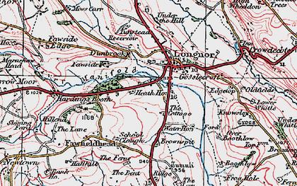 Old map of Longnor in 1923