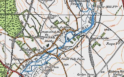 Old map of Longparish in 1919
